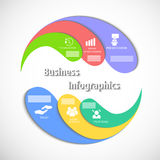 El infographics del círculo Imagenes de archivo
