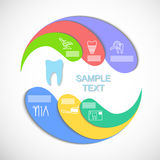 El infographics del círculo libre illustration