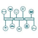 El infographics diario le gusta el concepto de rutina y Fotos de archivo libres de regalías