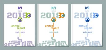 El informe anual 2018 - fije del diseño de la cubierta, ejemplo del vector libre illustration