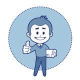 ¡El ingeniero del carácter dice muy bien! Imagen de archivo libre de regalías