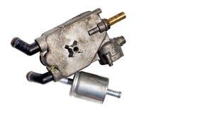 El injetor LPG del regulador para el coche es escape Foto de archivo
