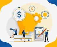 El inspirarse para aerodinamizar costes maneje las finanzas haga los pensamientos en la cabeza sobre el dinero y las finanzas, ej libre illustration