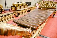 El instrumento de música tradicional malasio llamó Gamelan imagen de archivo