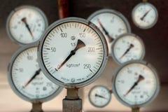 El instrumento para la presión de medición Foto de archivo