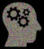 El intelecto adapta la composición de semitono de puntos stock de ilustración