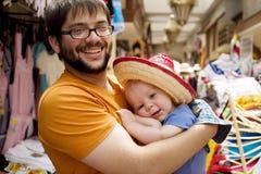 El intentar en los sombreros Foto de archivo