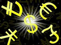 El intercambio de moneda significa el ejemplo de la tarifa 3d de las divisas stock de ilustración