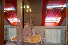 El interior cómodo de la casa del campo adentro alsacien estilo Fotografía de archivo