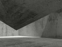 El interior concreto oscuro abstracto, 3d rinde libre illustration