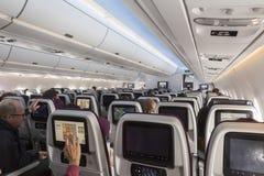 El interior de Airbus A350 Fotos de archivo libres de regalías
