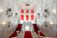El interior de Catherine Palace en Tsarskoye Selo, cerca del St Fotos de archivo libres de regalías