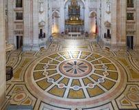 El interior de Engracia de la iglesia del panteón nacional ahora lisboa Foto de archivo