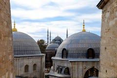 El interior de Hagia Sophia, Ayasofya, Estambul Imagen de archivo libre de regalías