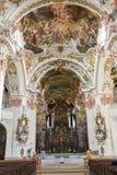 El interior de la abadía de Einsiedeln en Suiza Imagen de archivo libre de regalías