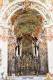 El interior de la abadía de Einsiedeln en Suiza Imágenes de archivo libres de regalías