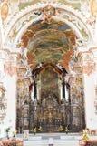 El interior de la abadía de Einsiedeln en Suiza Imagen de archivo