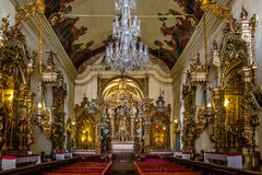 El interior de la basílica Nossa Senhora de Catedral hace a Pilar Our Lady del pilar - sao Joao Del Rei, Minas Gerais, el Brasil Imagenes de archivo