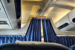 El interior de la cabina del avión Imagen de archivo