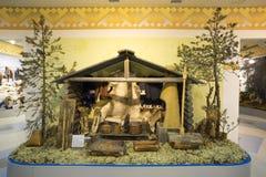 El interior de la casa de Khanty Museo y centro de exposición Langepas Fotografía de archivo