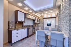 El interior de la cocina Imagen de archivo