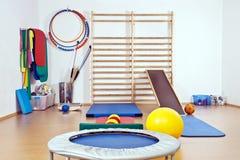 El interior de la gimnasia Imagen de archivo libre de regalías