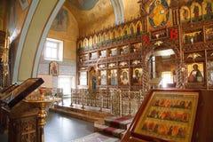 El interior de la iglesia Foto de archivo