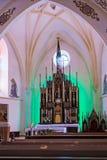 El interior de la iglesia Imágenes de archivo libres de regalías