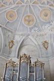 El interior de la iglesia del romanesque Foto de archivo