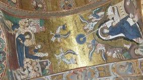 El interior de la iglesia de St Mary, Palermo, Sicilia, Italia Ken quema efecto almacen de metraje de vídeo