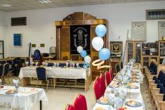 El interior de la sinagoga a en Ramla Israel foto de archivo libre de regalías