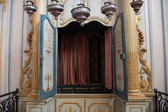 El interior de la sinagoga m?s vieja de Francia, en Cavaillon, ahora un museo fotografía de archivo