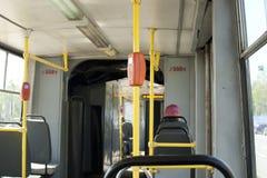 El interior de la tranvía vieja Fotos de archivo libres de regalías