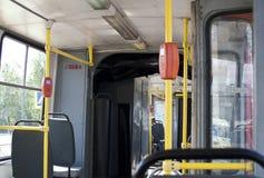 El interior de la tranvía vieja 2 Imagen de archivo libre de regalías
