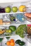 El interior de refrigeradores. Fotos de archivo