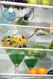 El interior de refrigeradores. Fotografía de archivo libre de regalías