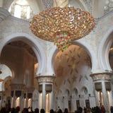 El interior de Sheikh Zayed Grand Mosque foto de archivo libre de regalías