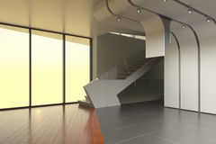 El interior de un cuarto vacío Fotos de archivo