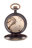 El interior de un reloj de bolsillo Fotos de archivo libres de regalías