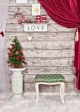 El interior del Año Nuevo en el cuarto Imagen de archivo libre de regalías