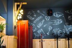El interior del café moderno Fotos de archivo