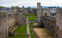 El interior del castillo de Caernarfon imágenes de archivo libres de regalías