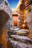El interior del castillo veneciano de Akrotiri, isla de Santorini Fotos de archivo