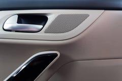 El interior del coche en colores brillantes Fotos de archivo