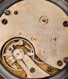 El interior del cronómetro viejo Foto de archivo