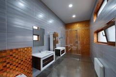 El interior del cuarto de baño Fotografía de archivo