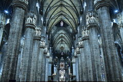 El interior del Duomo, Milán, Foto de archivo libre de regalías