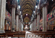 El interior del Duomo Milano Fotos de archivo libres de regalías