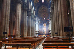 El interior del Duomo Milano Foto de archivo libre de regalías