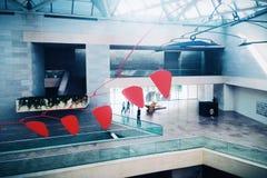 El interior del edificio del este del National Gallery del arte Imagenes de archivo